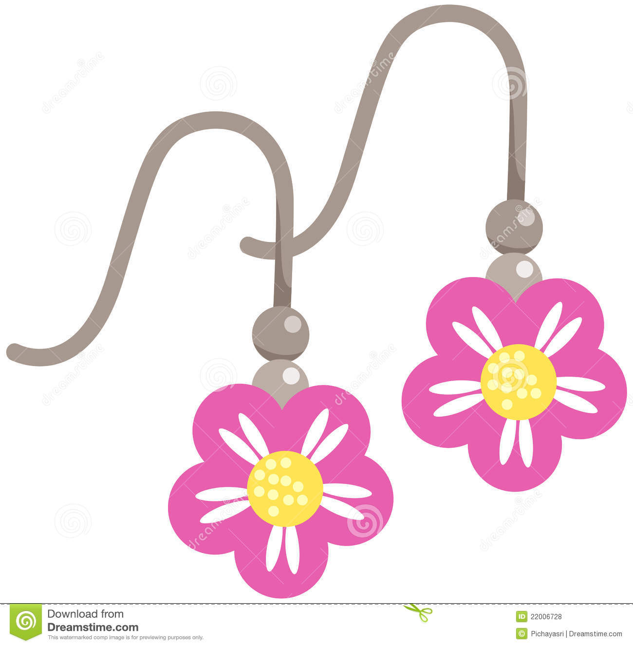 Earrings Clip Art.