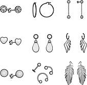 Earrings clipart black and white 1 » Clipart Station.