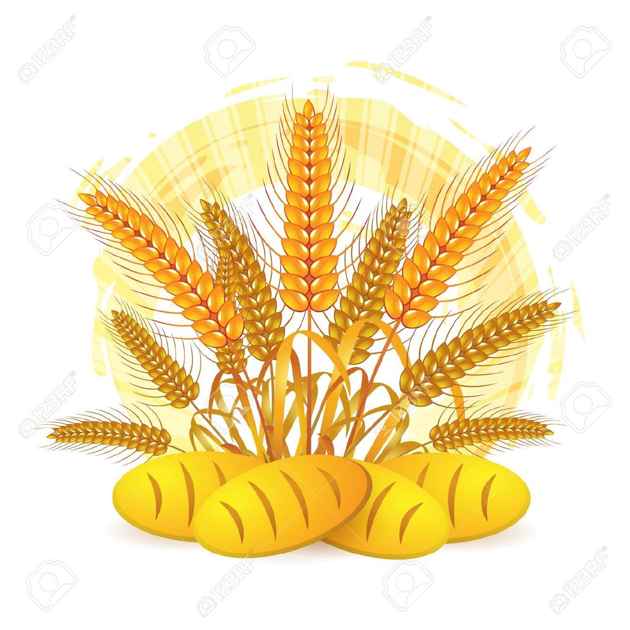 Wheat Ears With Bread Royalty Free Cliparts, Vectors, And Stock.