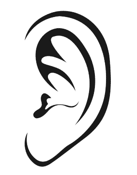 Ears clipart black and white clipart images gallery for free.