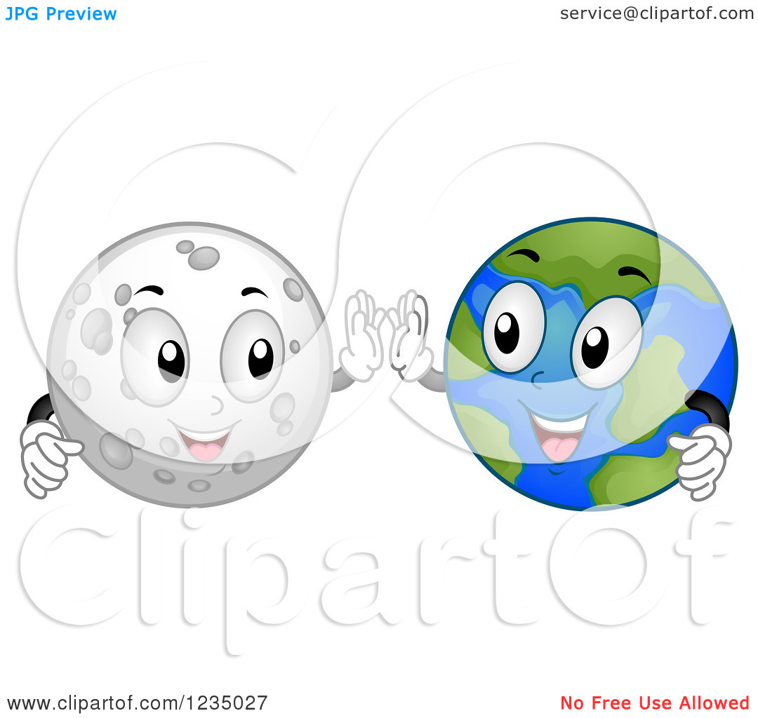 Moon and earth background clipart free.