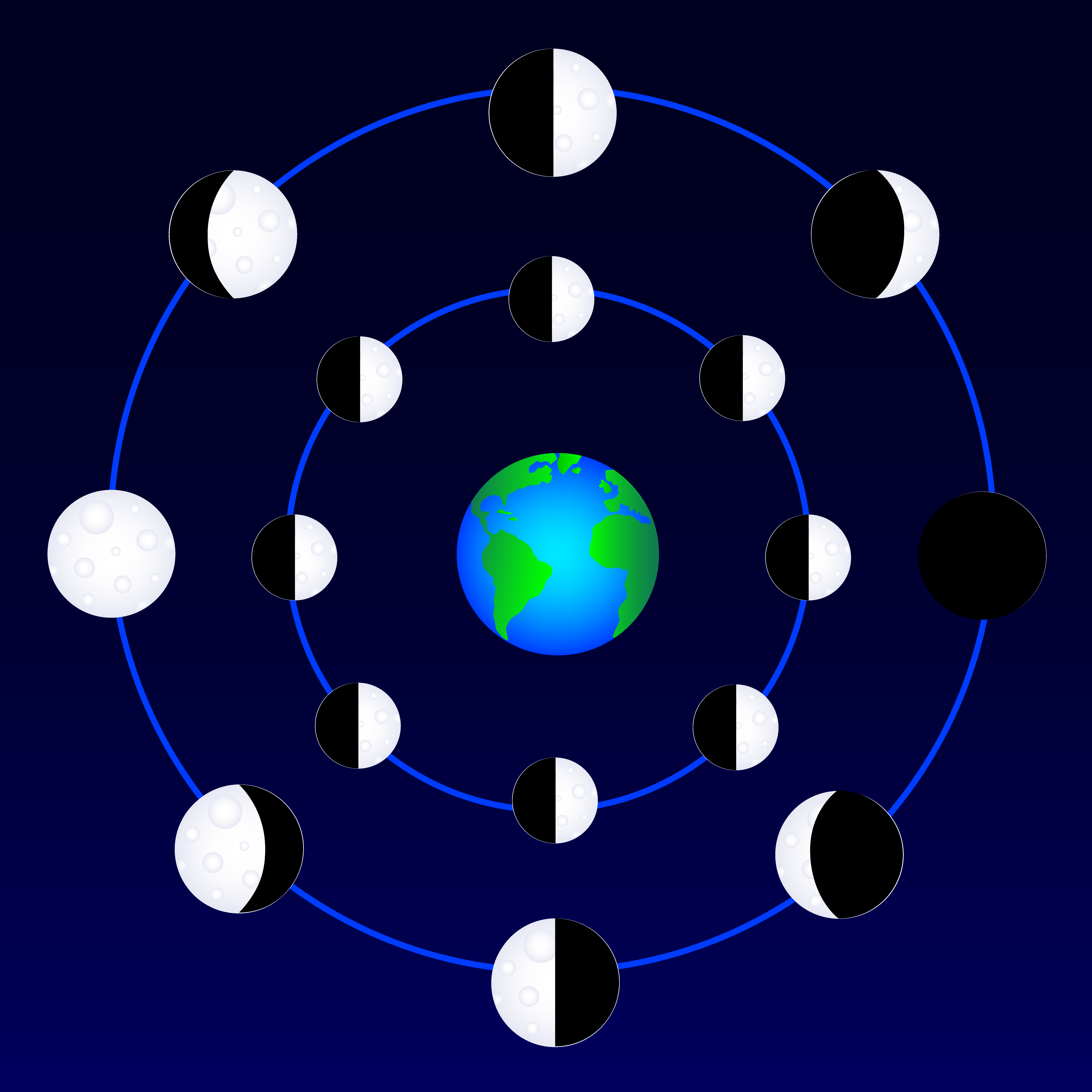 Earth and moon clipart - Clipground