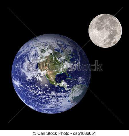 Earth from the moon clipart.