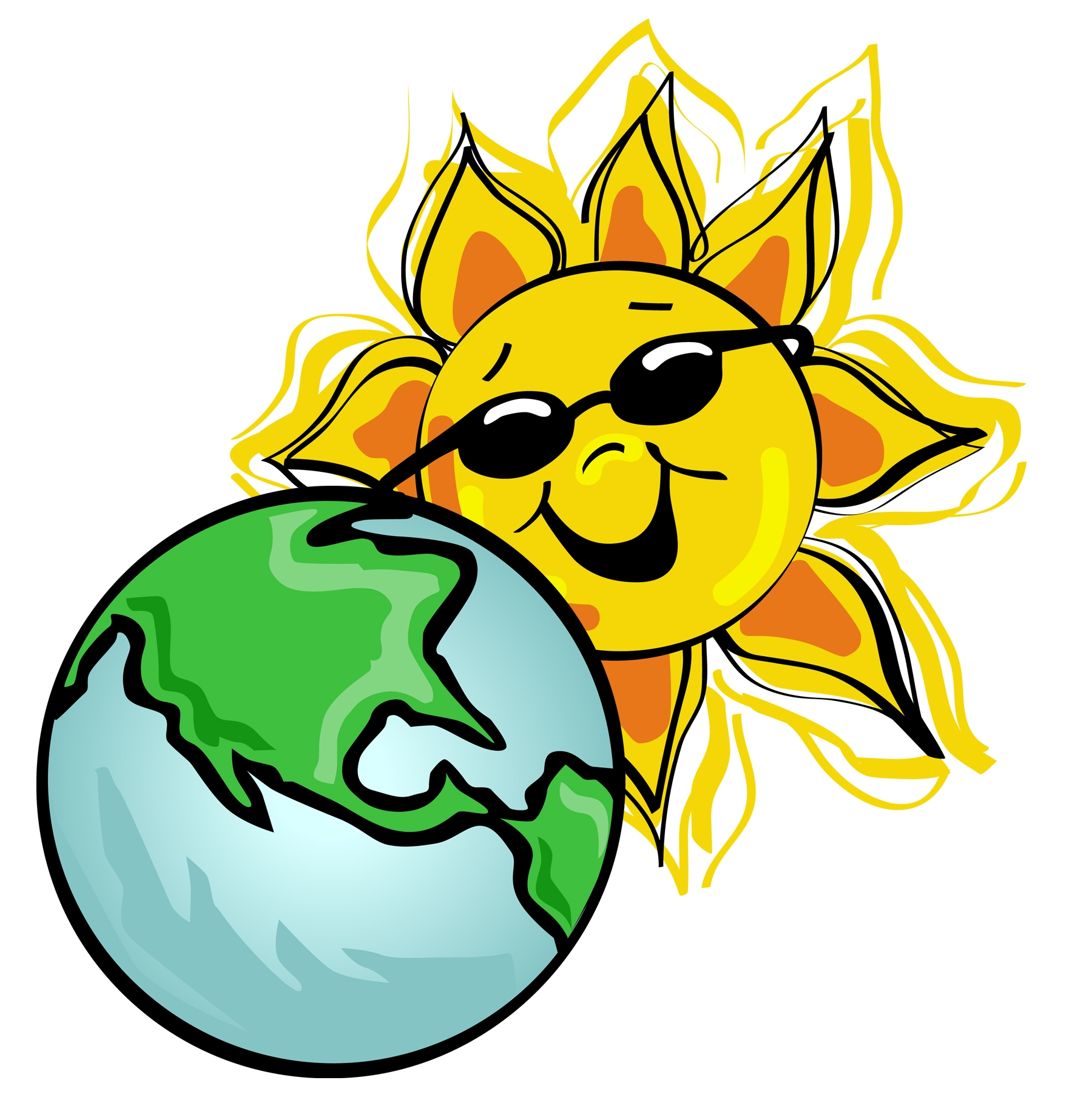 Earth And Sun Clipart.