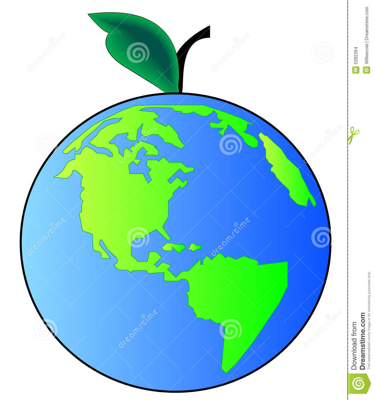 Earth Apple Stock Images.