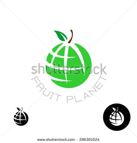 Earth Apple Globe Fruit Planet Logo Stock Illustration 327080795.