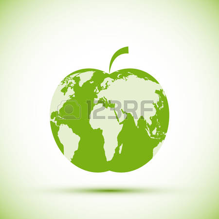 1,662 Earth Apple Stock Vector Illustration And Royalty Free Earth.