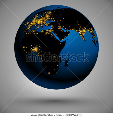 Earth Night Stock Vectors & Vector Clip Art.