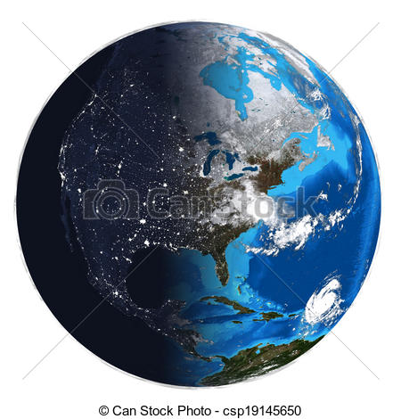 Earth And Night Clipart.