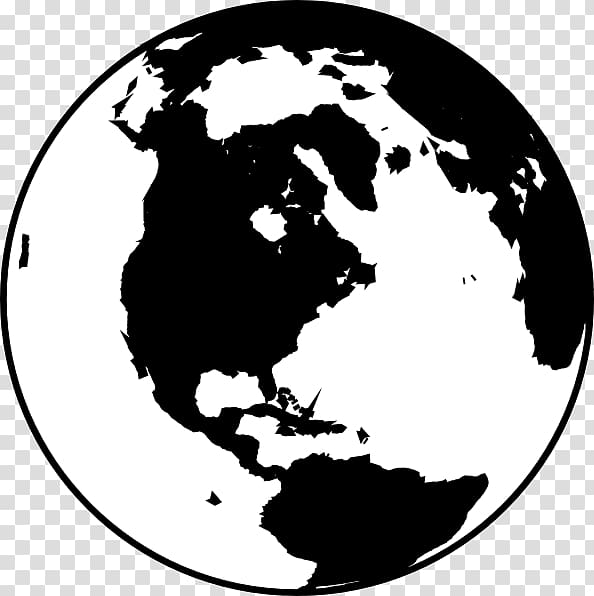 Globe Black and white World , Earth Black And White transparent.