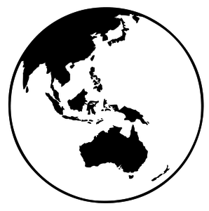 23946 clipart earth globe black white.