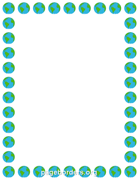 Earth Border: Clip Art, Page Border, and Vector Graphics.