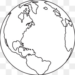 Free download Earth Black and white Clip art.