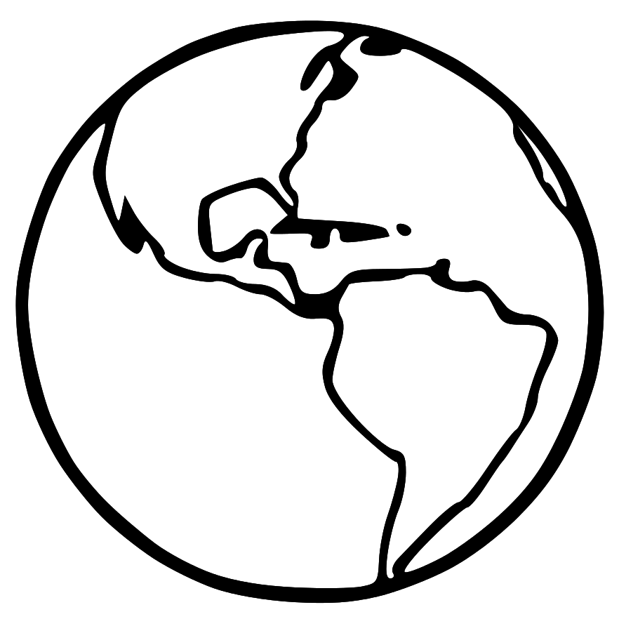 Black and white earth clipart clipart collection globe black png.
