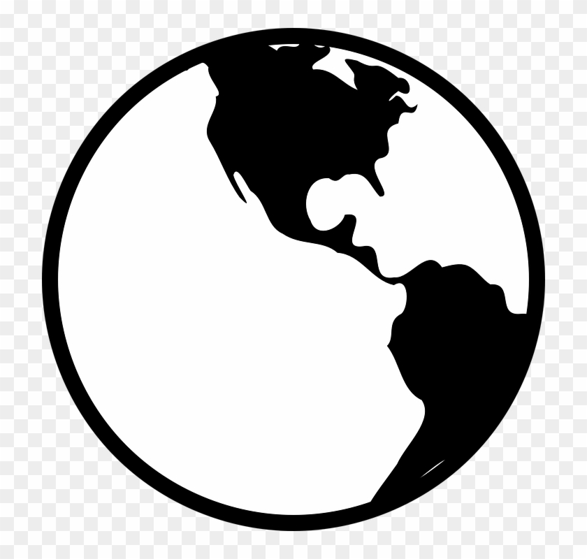 Earth Clipart Black And White Globe World Americas Expert Local 15.