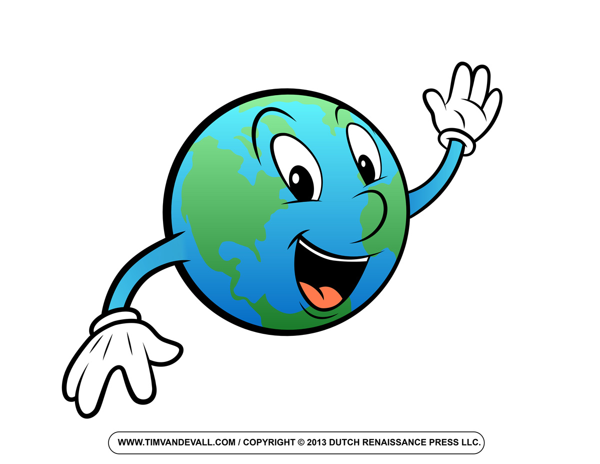 Happy Earth Clipart.