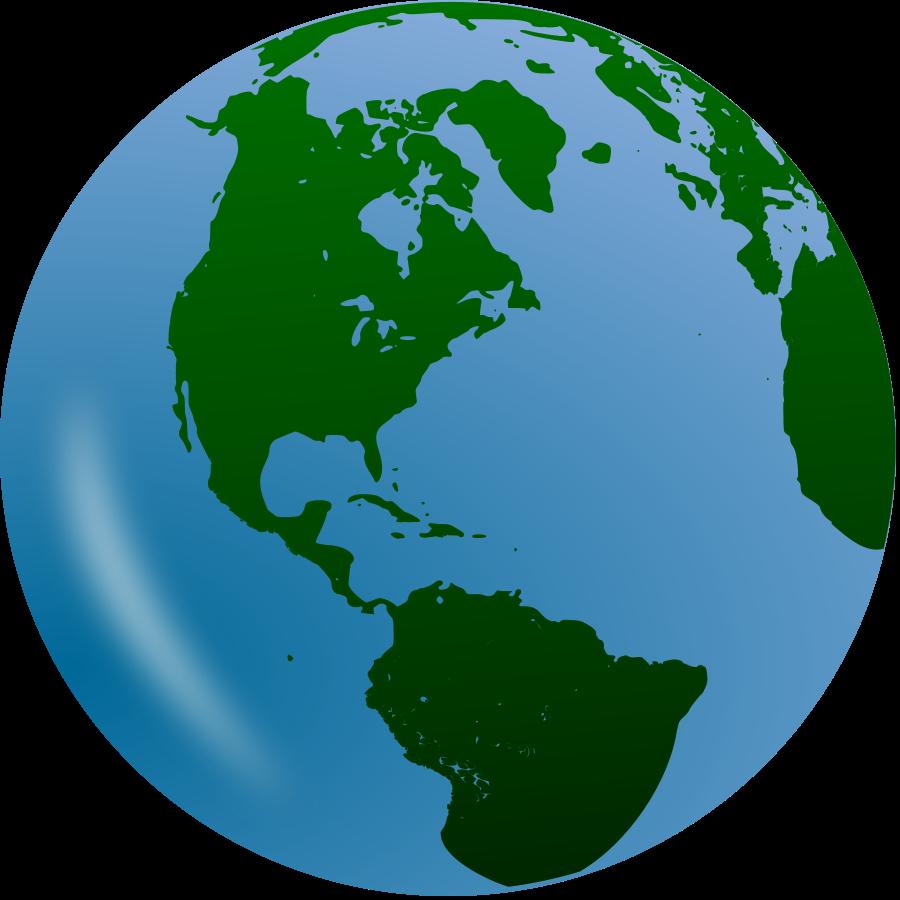 Globe world earth clip art free clipart image 6.