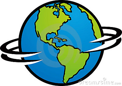 Spinning Globe Clipart.