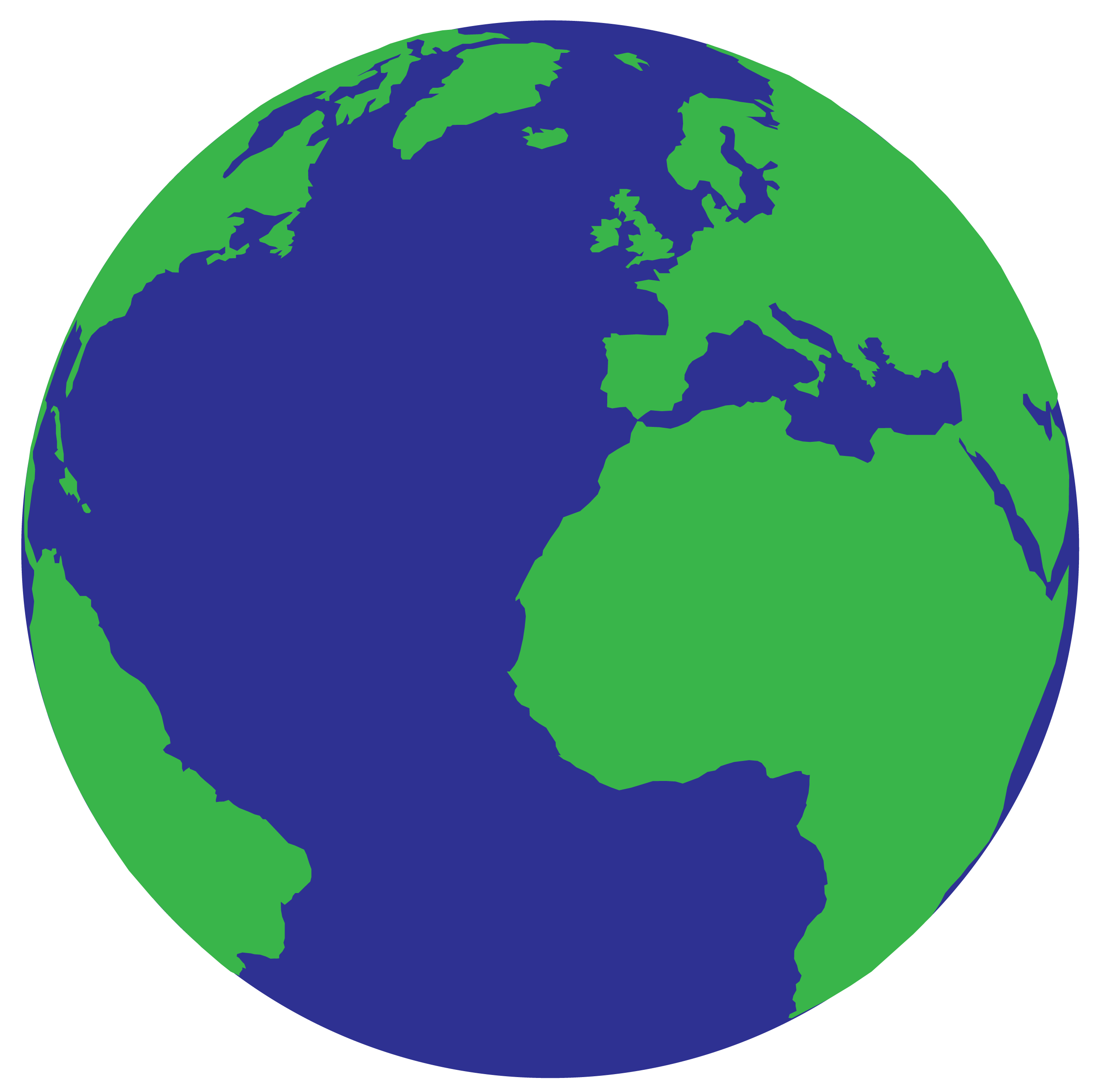 Simple Planet Earth Clipart.