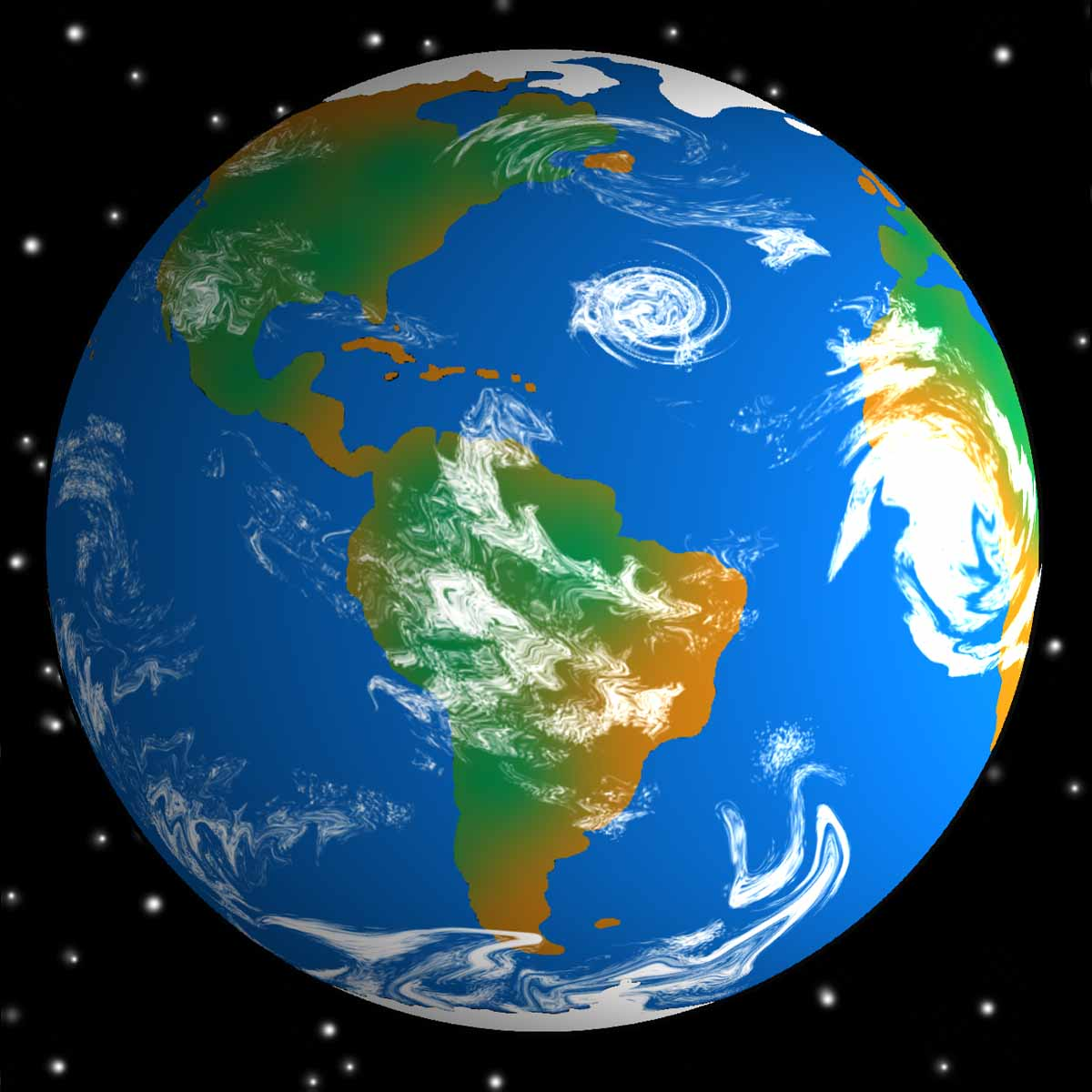 Clipart earth from space.