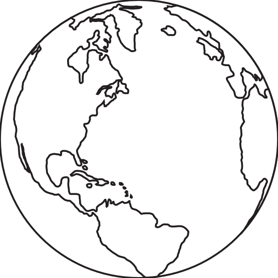 Earth clipart black and white png clipground colouringbook earth barretr black white line art publicscrutiny Images