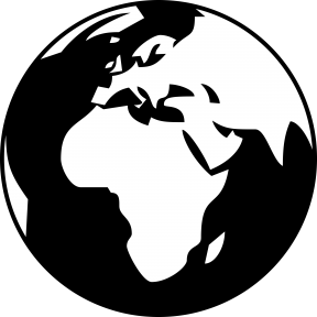 Globe Clipart Black And White Png.