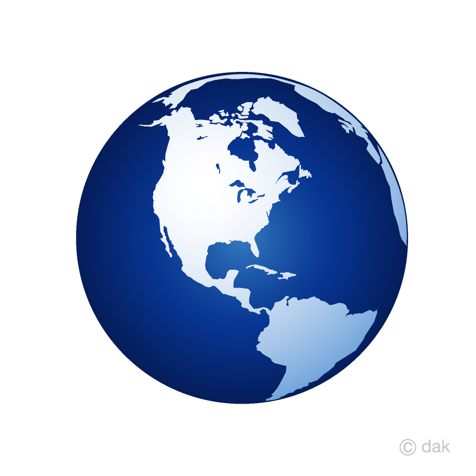 Blue Earth American Clipart Free Picture|Illustoon.