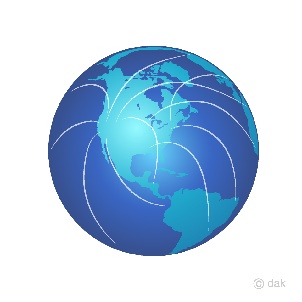 Network Earth Clipart Free Picture|Illustoon.