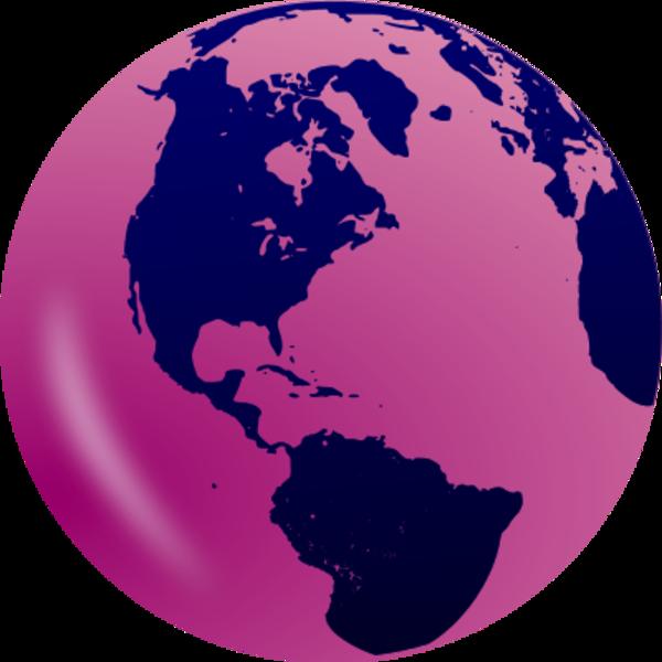 HD Globe Clipart Pink.