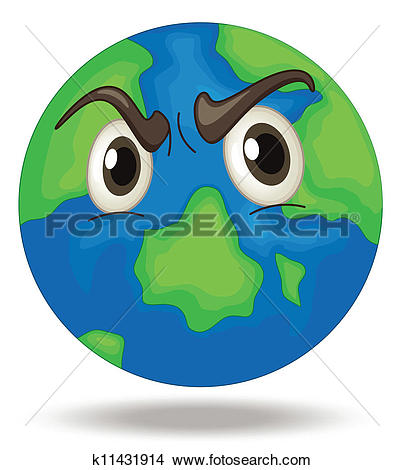 Clipart of Angry Earth k11431914.