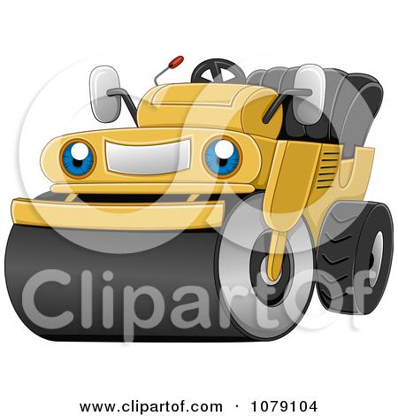 Road Construction Equipment Clipart Clipart Happy Road Roller.