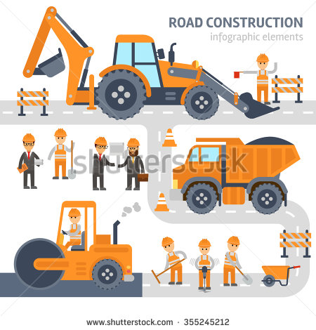 Road Construction Stock Images, Royalty.