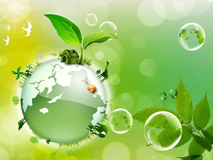HD wallpaper: green globe clip art, earth day, 2015, april.