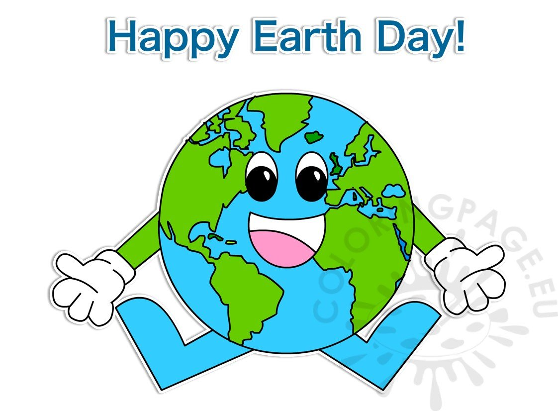 Happy Earth Day April 22 clipart.
