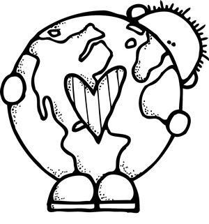 Earth Day Clipart Black And White.