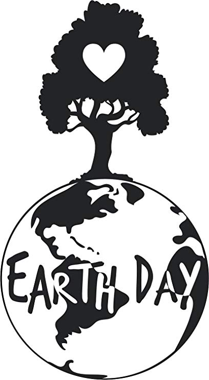 Amazon.com: Simple Earth Day Black and White Icon Vinyl.