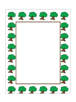 Earth Day Borders Frames and Papers.