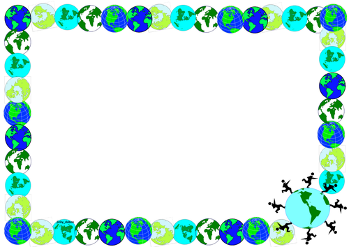 Earth Day Themed Lined Paper and Pageborders by jinkydabon.