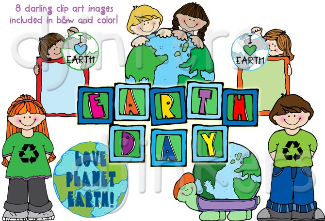 Clip Art & Printables for Earth Day by DJ Inkers.