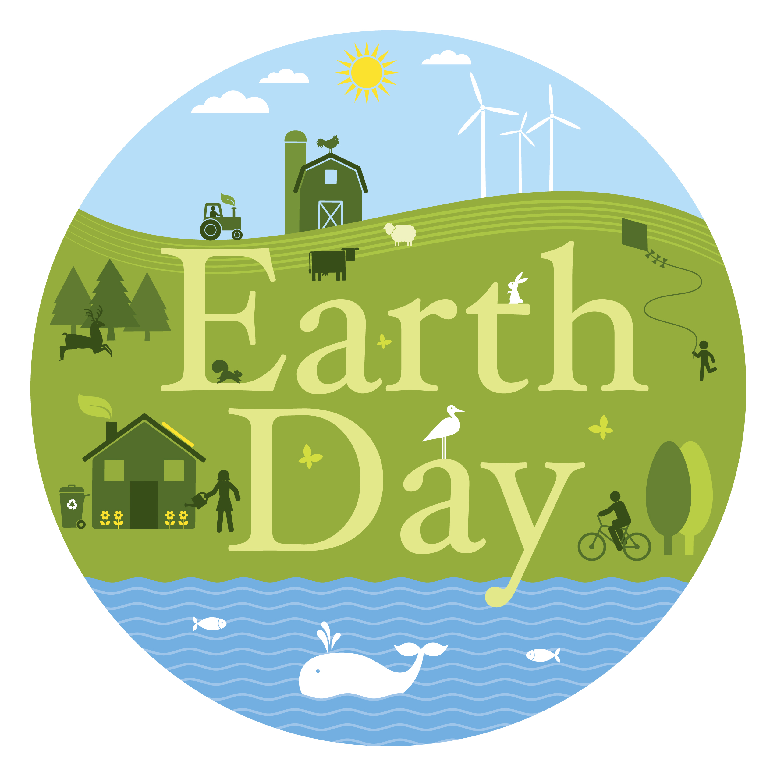 Earth day 2016 clipart.