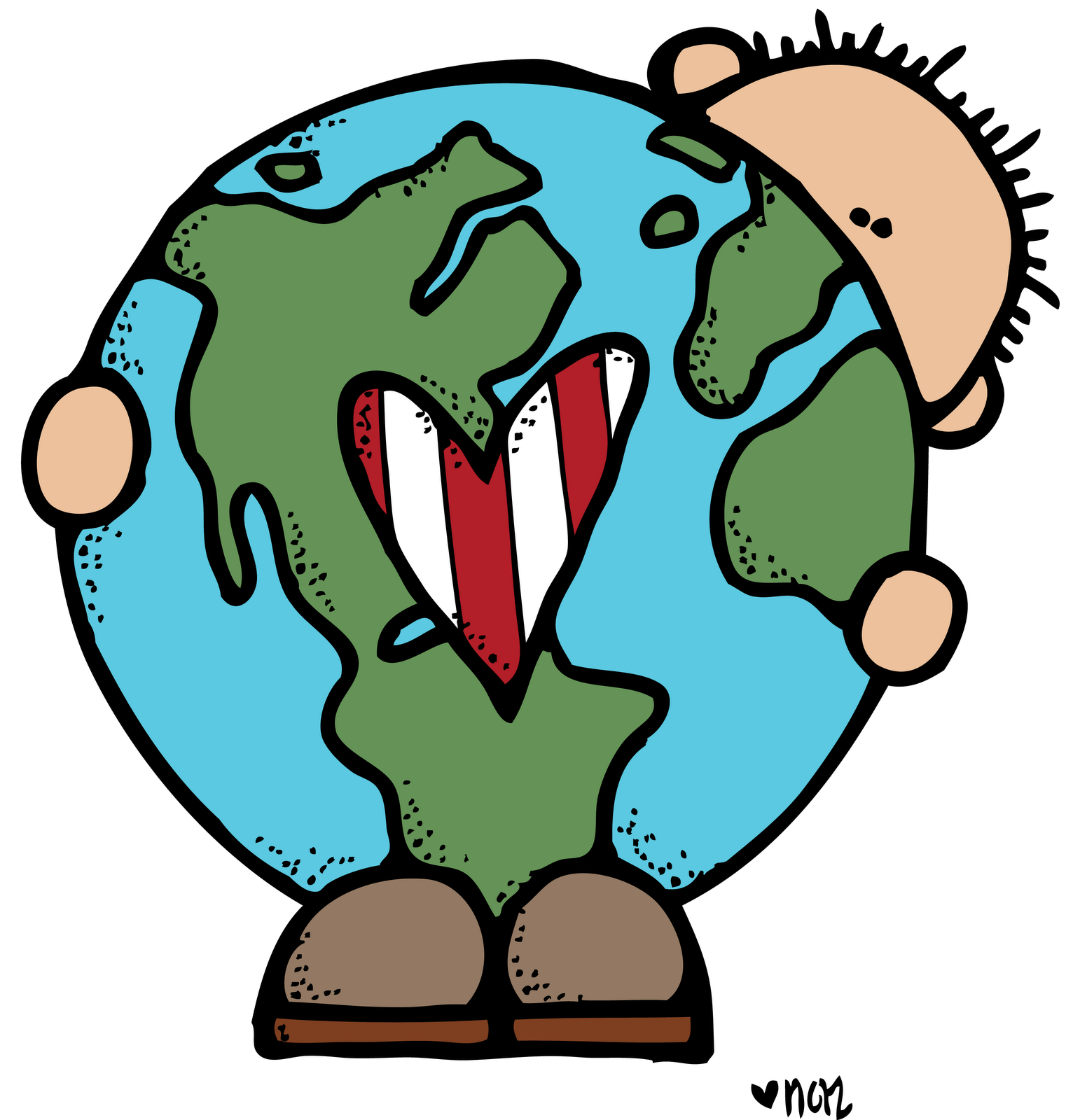 Earth day border clipart.