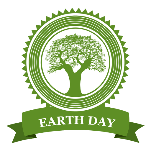 Earth day tree badge.