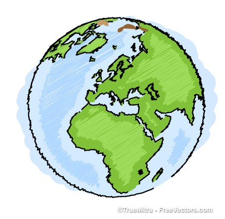 Free Earth Drawing Clipart and Vector Graphics.