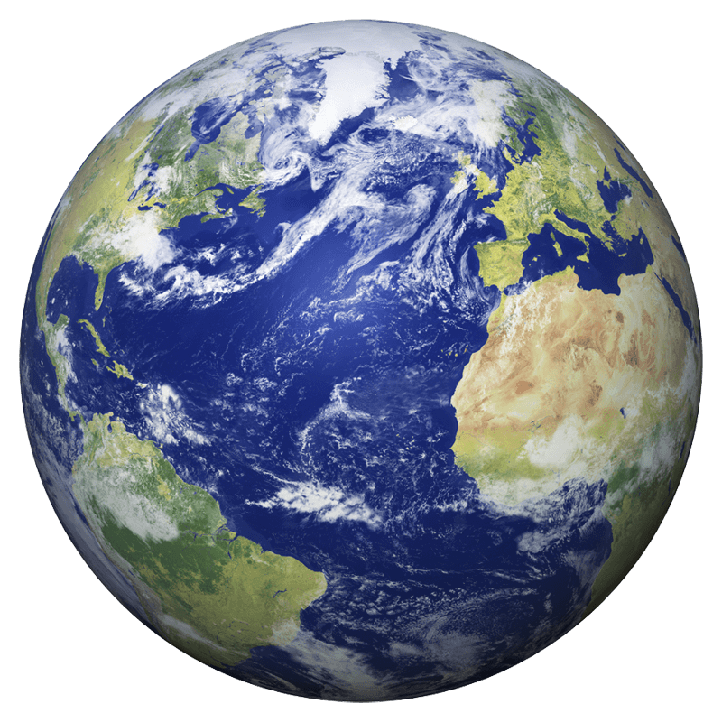 Earth Seen From Space transparent PNG.