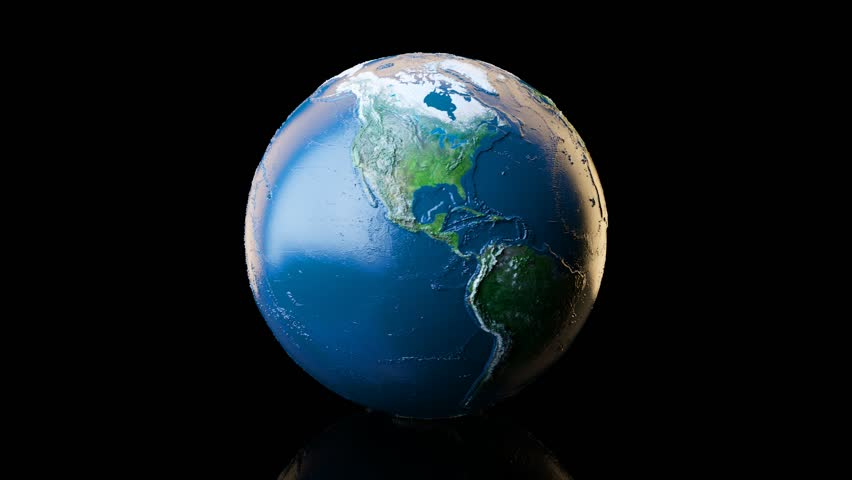 The Earth from Space. Extremely Stock Footage Video (100% Royalty.