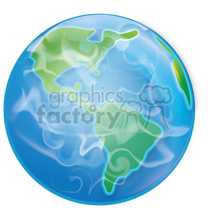 Earth from space clipart. Royalty.