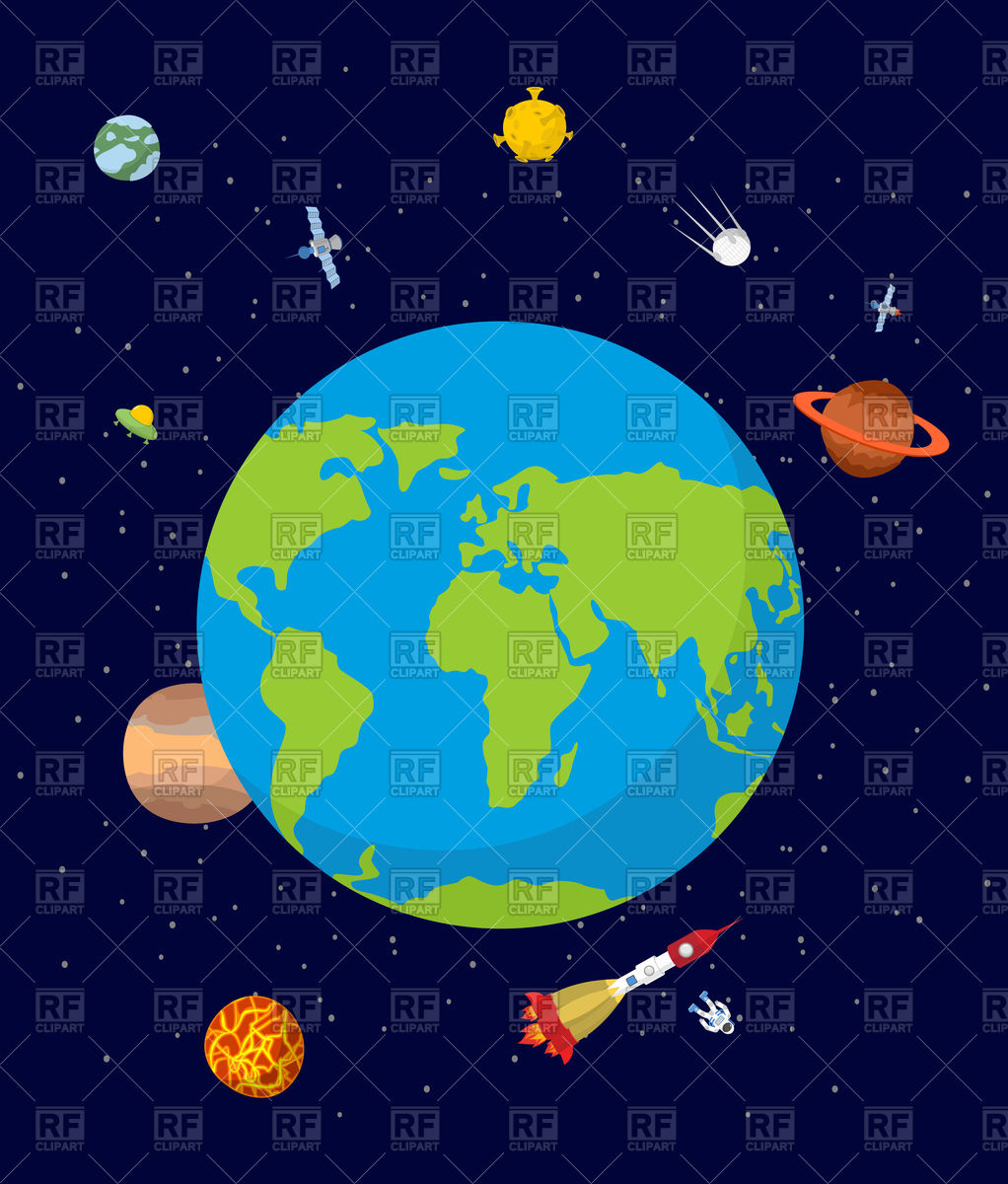 Planet earth in space Stock Vector Image.