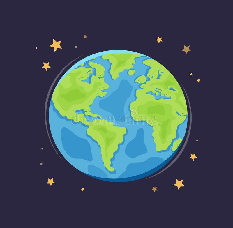 Earth Space Globe Stock Illustrations.