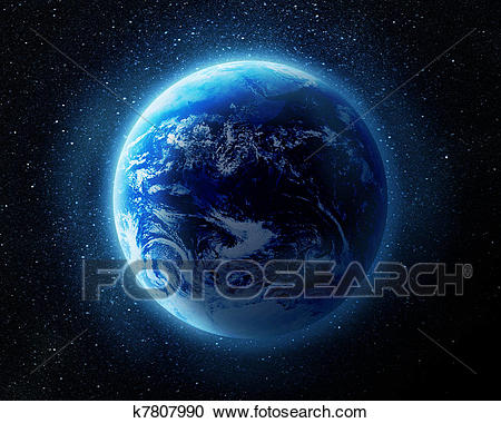 Earth in space Clipart.