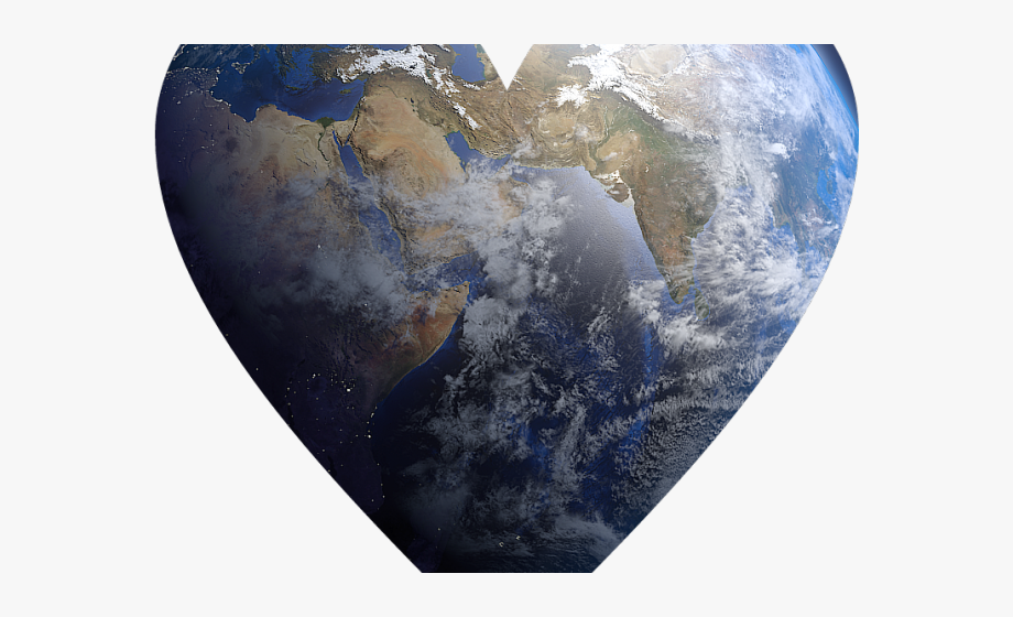 Planet Earth Clipart Earth Heart.